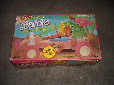 Very Rare 1986 Mattel BARBIE Tropical Dune Buggy Vehicle, friction motorized