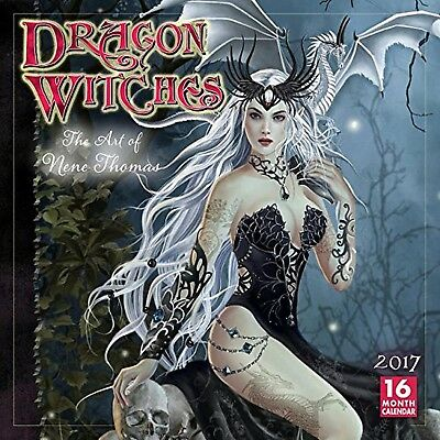 Dragon Witches The Art of Nene Thomas 2017 Wall Calendar