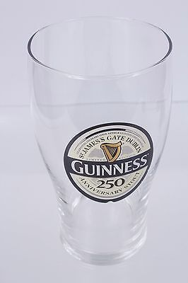 Guinness Stout 250th Anniversary Beer Imperial Pint Glass St James Gate Dublin