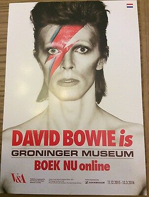 Very Rare Promotional Flyer - V & A David Bowie Is... Groningen Museum 2016