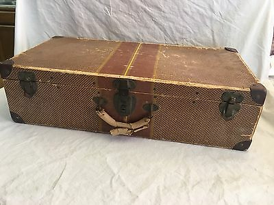 Antique Lightweight Cardboard Travel Suitcase