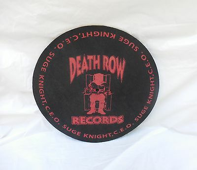 Death Row Records Suge Knight Collectible DJ Turntable Slipmat