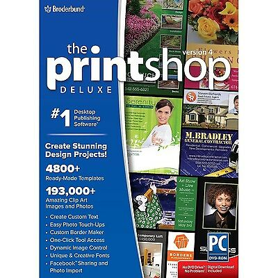The Print Shop Deluxe 4.0 PC Disc