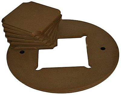 WonderBat Square Bats with Adapter for Pottery Wheels Set of 6