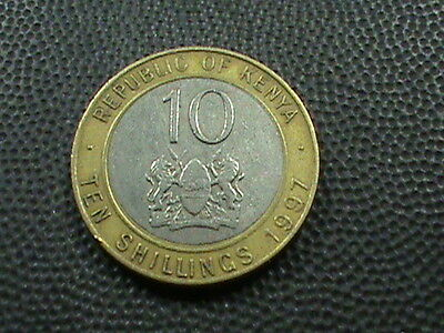 KENYA    10  Shilling    1997  $ 2.99 maximum shipping in USA