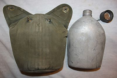 Original Vietnam WW2 Era US Military Issue 1945 Canteen with 1952 Cover  CT28