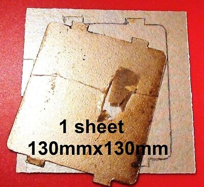 "Microwave cover sheet mica asbestos shield heat waveguide 5"" 130mm square UK"