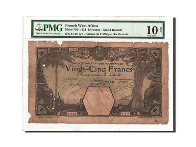 [#460052] Afrique Occidentale, 25 Francs, 12.07.1923, PMG VG10,...