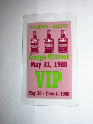 George Michael Laminated Backstage Pass Authentic May 31, 1988 VIP