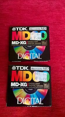 TDK MD-XG 60 Very rare minidisc Made in Japan x2