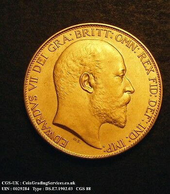 1902. Rare Proof Edward VII  Double Sovereign. CGS 88. FDC.