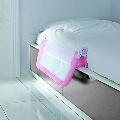 Lindam Bed Guard Pink Easy Fit Extendable Safety Folding Secure Lightweight