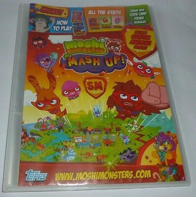 Moshi Monsters Mash Up Topps 130 + Trading Cards in Collectors Binder Fast Post!