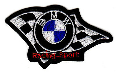 "BMW LOGO BADGE RACING SPORT EMBROIDERED IRON ON PATCH 2.5"" m3 m5 330 z4 z8 z3"