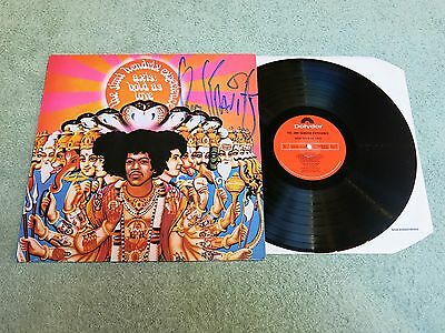 JIMI HENDRIX axis bold as love POLYDOR LP ~ AUTOGRAPHED LENNY KRAVITZ ~ SPELP 3!
