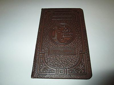 Vintage First National Bank Buhl, Minn. Embossed Cover Savings Book Ledger