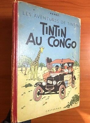 Tintin Au Congo1948 Belgian Early Casterman Edition EO Herge first VGC