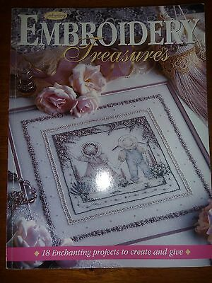 Australian Embroidery & Cross-Stitch Book - Embroidery Treasures-Pattern Sheets