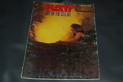 RATT Out Of The Cellar songbook GUITAR/Vocal/Piano  47 pgs.+ photos (VG) RARE