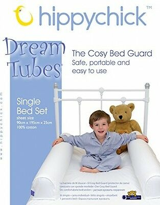 Hippychick Dream Tubes Soft Cotton Bed Bumpers Secure Night Sleep Single Set