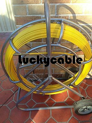 Heavy Duty Fibreglass Nbn  Rodder Duct Fish Snake Cable Tool 8 Mm X 150Mts