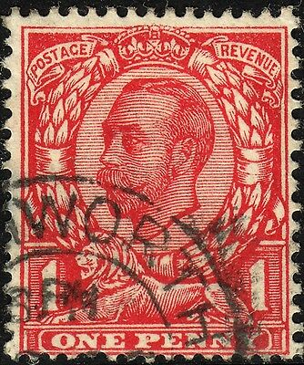 Great Britain 1912 KGV 1d Scarlet No Cross on Crown Used