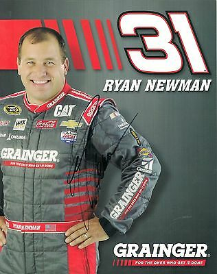 Ryan Newman #31 RCR GRAINGER 2016 CHEVY autographed 8x10 photo *FREE SHIPPING*