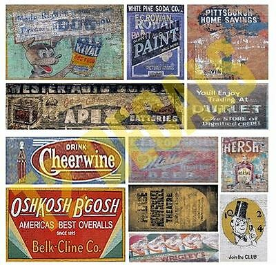 T2 Decals O Scale Ghost Town Signs Decal Set #30 | Bn | Osghos030