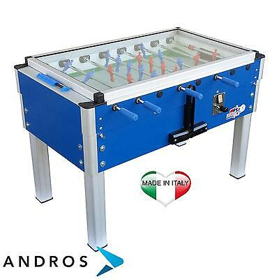 ROBERTO SPORT EXPORT - Football table - telescopic rods + coin mechanism Blue