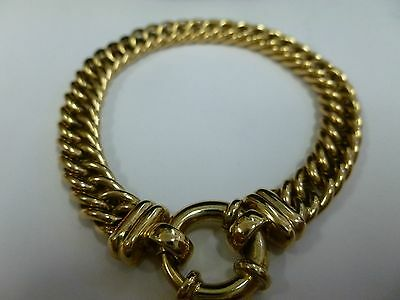 10CT Yellow Gold Curbed Link Bracelet