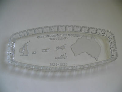 Vintage Victorian And Melbourne Centenary Depression Glass Dish