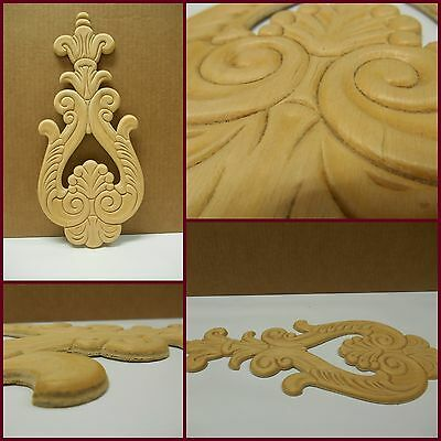 "Wood Applique -Decorative Embossed Applique - 12 3/8"" H- 5 1/2"" W- 3/16"" D-"