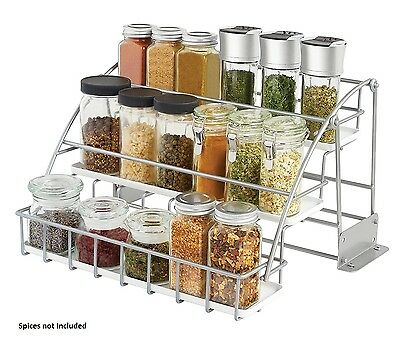 rubbermaid coated wire in cabinet spice rack kitchen black storage rh picclick com Wire Racks for Pantry Spice Rack Construction