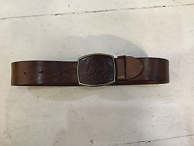 Diesel brown tooled leather belt childs childrens boys mens M