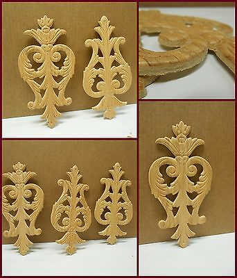 "Decorative Embossed  Wood Applique  -Each- 9 1/4"" H- 4 1/2"" W- 3/16"" D  ref.e04s"