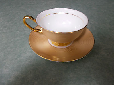 Royal Devonshire Gold Tea Cup and Saucer- China