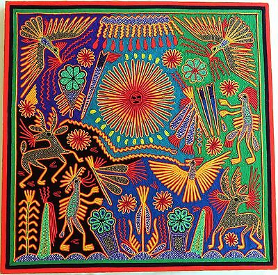 "23.5"" Mexican Huichol Yarn painting 60-041"