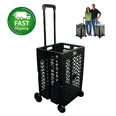 Grocery Cart On Wheels With Shopping Utility Beach Big Laundry Sport Teacher NEW