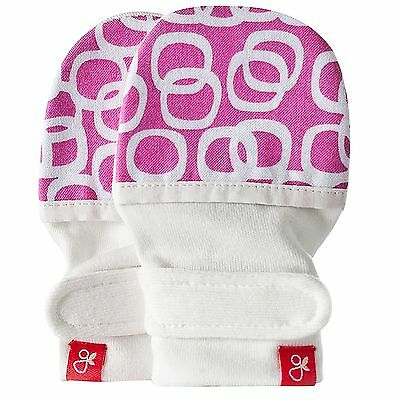 Goumi Kids/Baby Natural Reversible Mitts/Mittens/Gloves - Bubbles Berry (S/M)