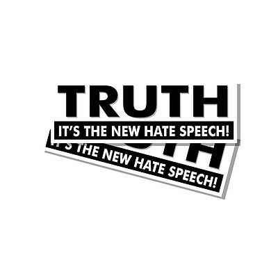 Anti Hillary Pro Trump Snowflake Truth the New Hate Speech Sticker Decal 2 Pack