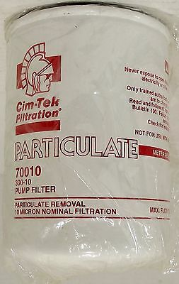 Cim-Tek 70010 300-10 Pump Filter - 10 Micron Particulate Removal - Saco Lowell