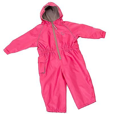 Hippychick Fleece Lined Waterproof Play Suit - Pink (18-24 Months Baby/Child)