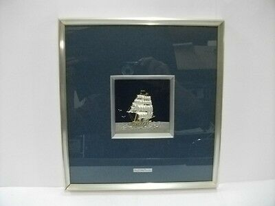Pure silver. Picture mounting. CLIPPER SHIP SILVER999. TAKEHIKO's work.
