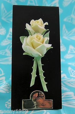Lladro # 5183 ~ TWO YELLOW ROSES W/BASE      Buy 1 Get 1 50% Off
