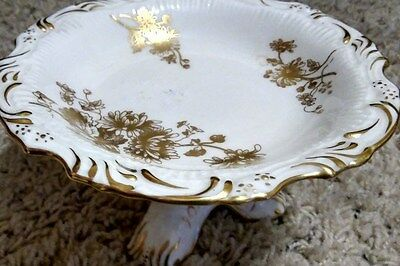 Gold-Cornflower Pedestal Candy Dish #6025 by Hammersley & CO England