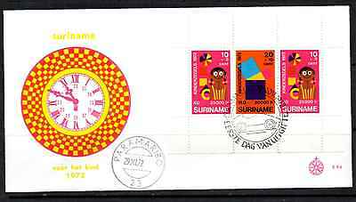 Suriname 1972 Fdc – Child Welfare Mini Sheet #a0228