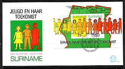 Suriname 1981 Fdc – Youth And Its Future Mini Sheet #a0697