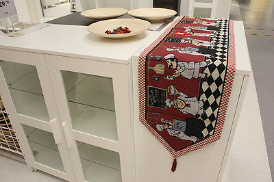 Chef american style vintage decor festival  tapestry cotton woven table runner