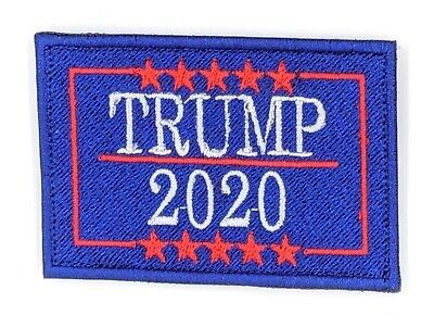Make America Great Again Donald Trump Patch with Hook Fastener (BLUE)