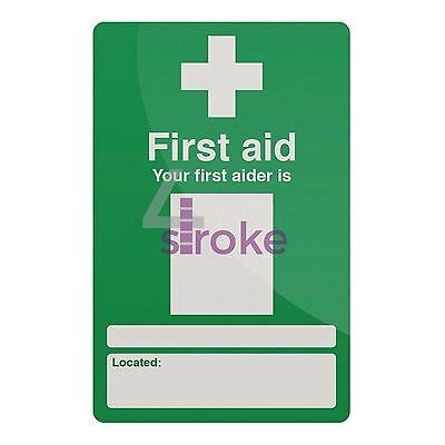 Self-Adhesive Your First Aider Sign - 200 X 300mm